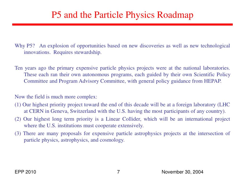 P5 and the Particle Physics Roadmap