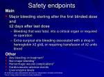 safety endpoints
