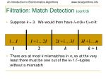 filtration match detection cont d