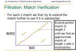 filtration match verification