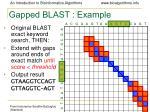 gapped blast example