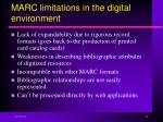 marc limitations in the digital environment