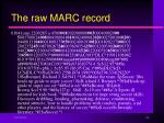 the raw marc record