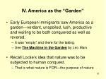 iv america as the garden