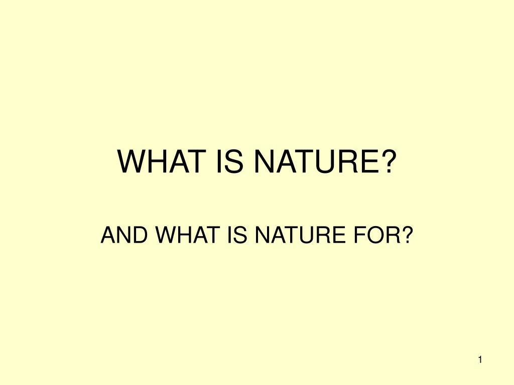 what is nature l.