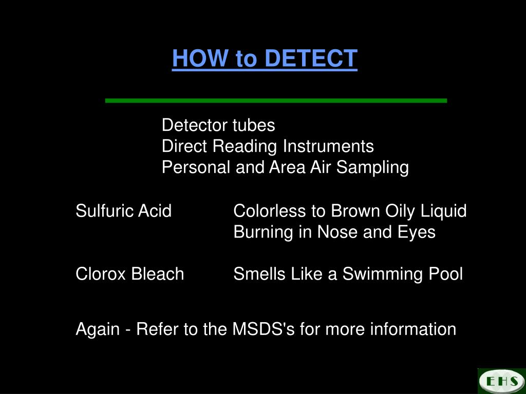 HOW to DETECT