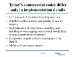 today s commercial codes differ only in implementation details