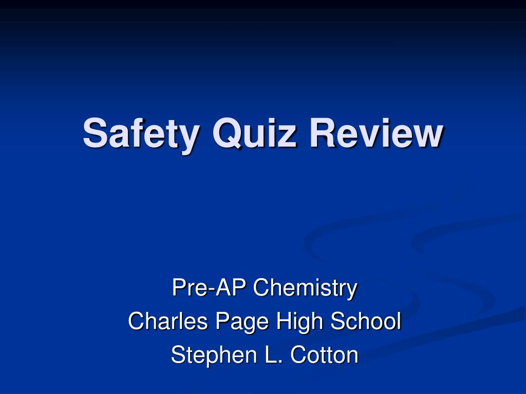safety quiz review l.