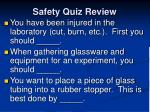 safety quiz review5