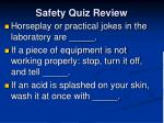 safety quiz review7