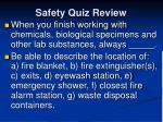 safety quiz review8