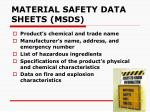 material safety data sheets m sds