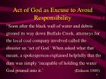 act of god as excuse to avoid responsibility