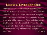 disaster as divine retribution