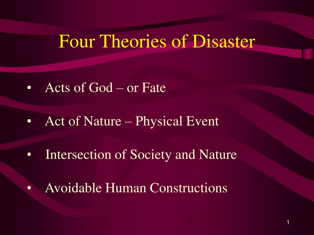 four theories of disaster l.