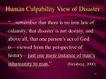 human culpability view of disaster22