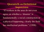 quarantelli on definitional imprecision