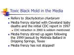 toxic black mold in the media