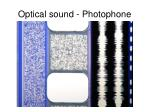 optical sound photophone