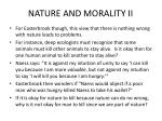 nature and morality ii