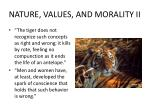nature values and morality ii