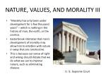 nature values and morality iii