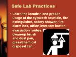 safe lab practices