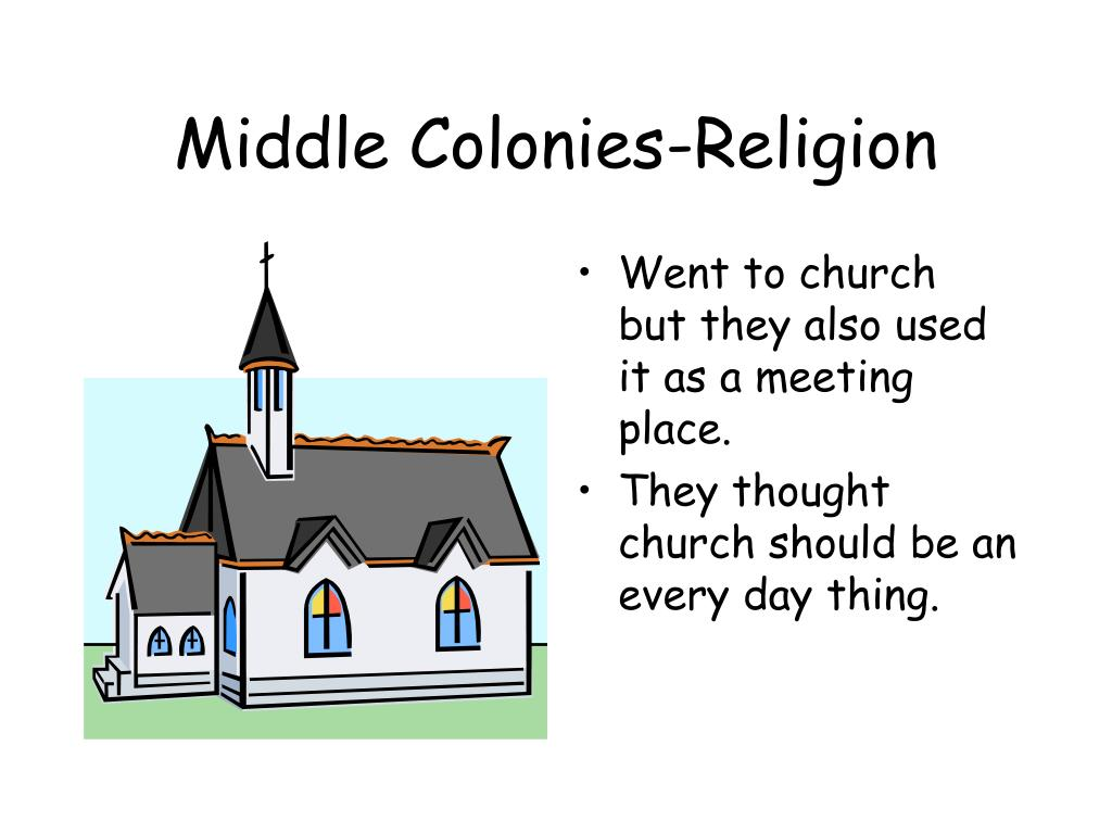Middle Colonies-Religion