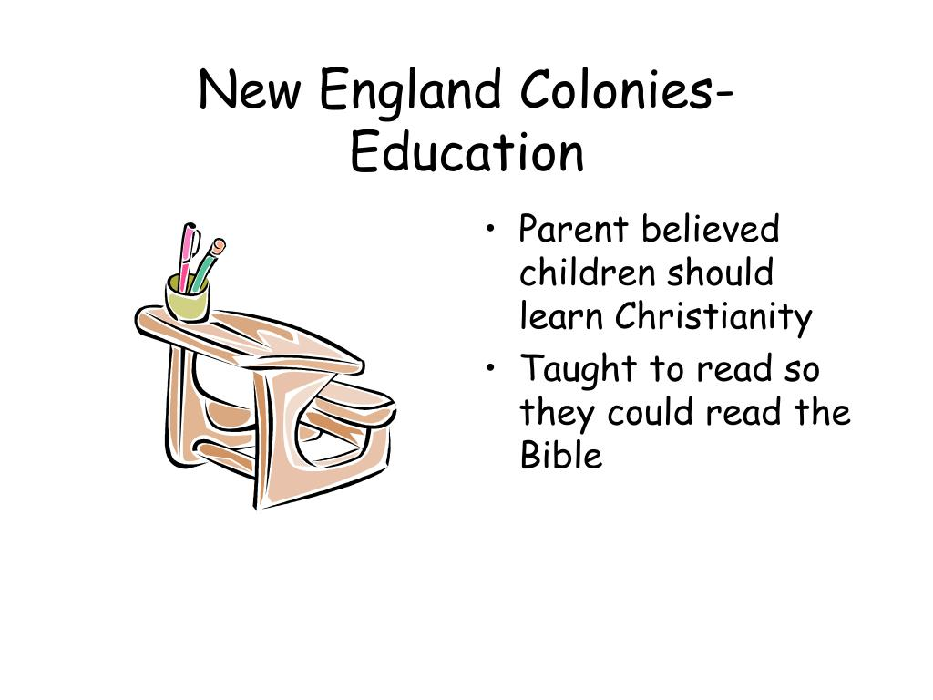 New England Colonies-Education