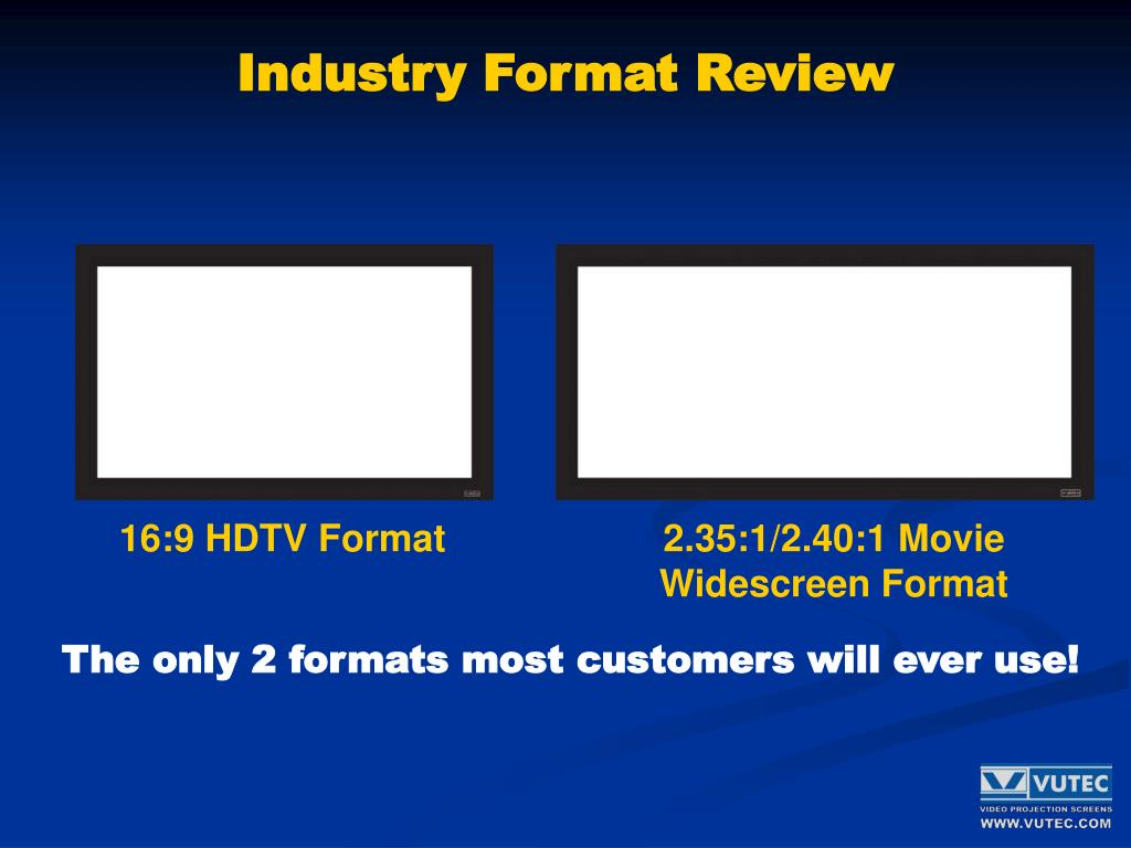 Industry Format Review
