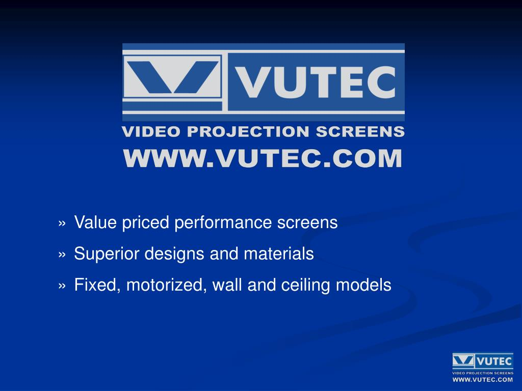Value priced performance screens
