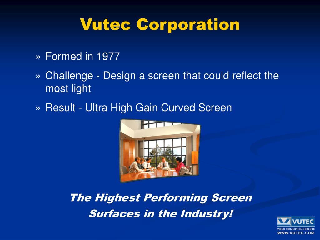 Vutec Corporation