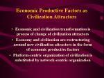 economic productive factors as civilization attractors17