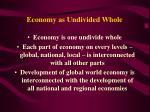 economy as undivided whole