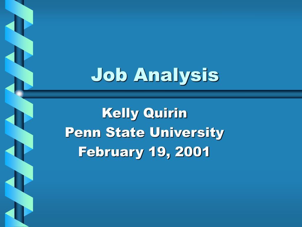 job analysis l.