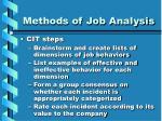 methods of job analysis19