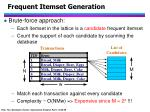 frequent itemset generation12