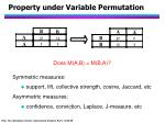 property under variable permutation