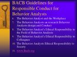 bacb guidelines for responsible conduct for behavior analysts9