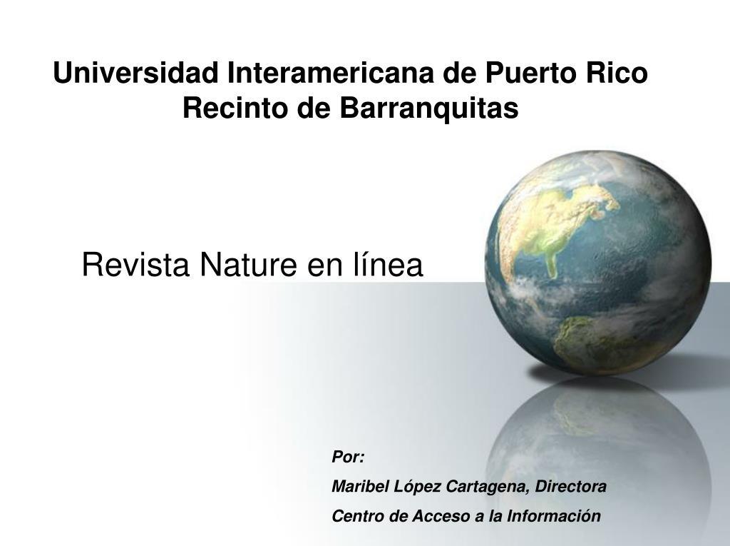 universidad interamericana de puerto rico recinto de barranquitas l.