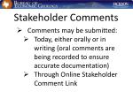 stakeholder comments35