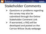 stakeholder comments36