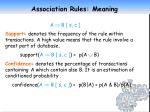 association rules meaning