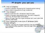 fp growth pros and cons
