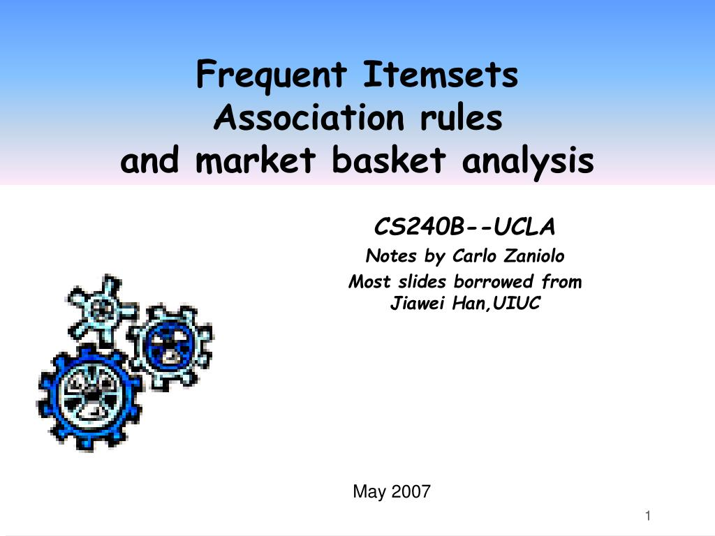 frequent itemsets association rules and market basket analysis l.