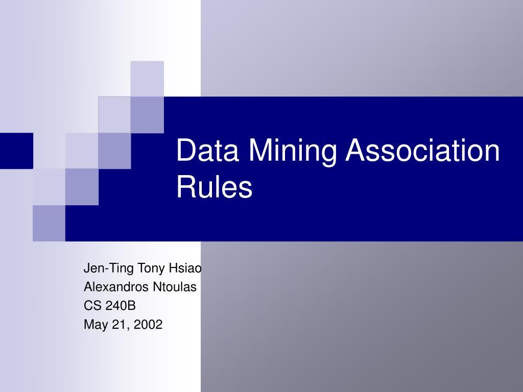 data mining association rules l.