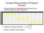 compact representation of frequent itemsets