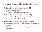 frequent itemset generation strategies