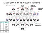 maximal vs closed frequent itemsets