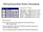 mining association rules decoupling